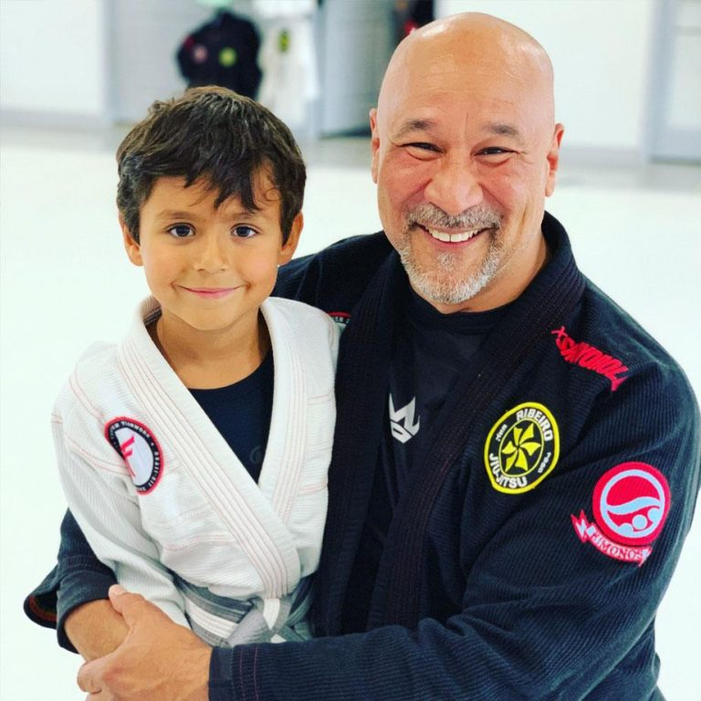 Mike Castro with student
