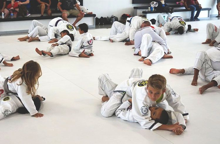 Team Tooke Cypress kids practicing jiu-jitsu